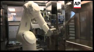 Robots used to distribute drugs at a Californian hospital
