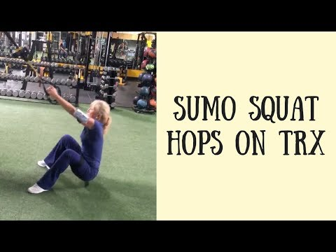 Sumo Squats Hops on TRX