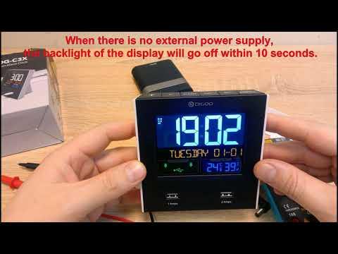 Excellent  Digoo DG-C3X clock