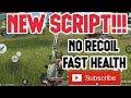 NEW SCRIPT!! No recoil dan Fast Health!  WORK!!  (6) - Rules of survival