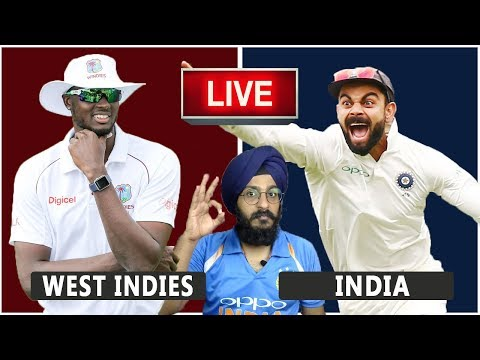 West Indies VS India Live Match REACTION | 1st Test | Day 2 | WI VS IND | Live Score and Reaction
