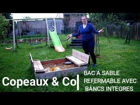 Idée DIY - Le bac à sable pliant avec bancs intégrés!