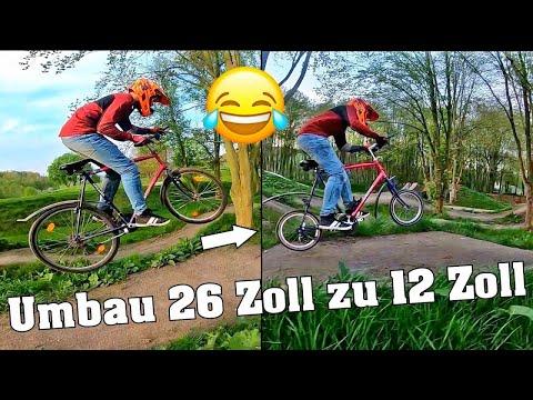 ALTHERRENRAD UMBAU! 26 Zoll zu 12 Zoll | almost crash | ESKALATION | lustigste Idee | DownhillSucht