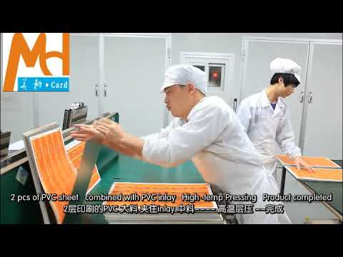 RFID Smart Card Maunfacturing Process - NFC RFID Inlay Production process - Antenna Embedding