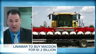 Linamar set to buy Macdon for $1.2 Billion - BNN December 2017
