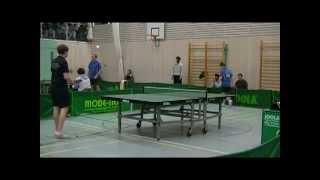 preview picture of video 'Tischtennis-Aufstiegsspiel: [ Erdweg gegen Starnberg ] Spiel 8'