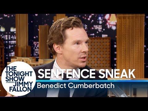 Sentence Sneak with Benedict Cumberbatch (видео)