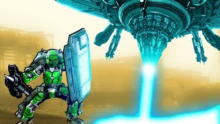Epic MECH SUIT vs UFO Invasion to Save the Planet in Earth Defense Force 5!