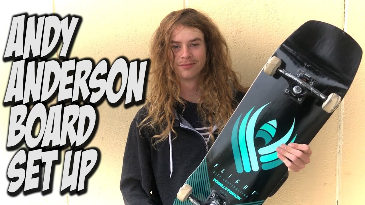 ANDY ANDERSON BOARD SET UP AND INTERVIEW !!! - Nka Vids Skateboarding