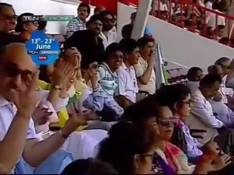 Navjot Singh Sidhu 108   India v Pakistan at Sharjah 1989