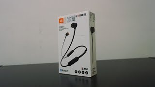 JBL BLUETOOTH WIRELESS EARPHONE REVIEW - T110BT