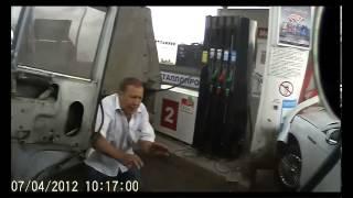 Водитель камаза устроил замес на АЗС в Оренбурге