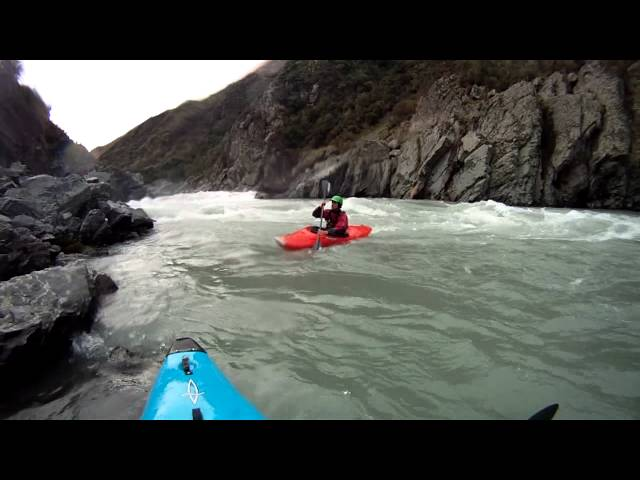 Kieran kayaks his first class 4 rapids