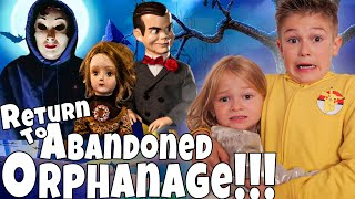 24 hours in a Haunted Orphanage!! Dad's Arrested!!!!!  Return to the Abandoned Orphanage Part 4