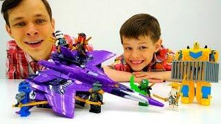 Лего НиндзяГо и Бамблби! Игры для мальчиков.