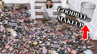 GETTING RID OF HALF OF MY MAKEUP COLLECTION | EXTREME CLEAN OUT 2020