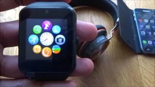 GT08 Smartwatch mit Kamera unterstützt SIM-Karte TF-Karte [Hands on Review and Test]