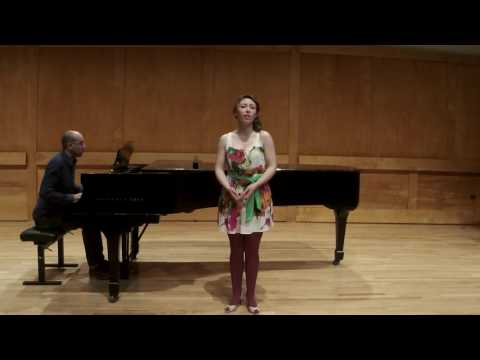 """Melissa Nyman singing """"Romance"""" from Deux Romances by Clause Debussy."""