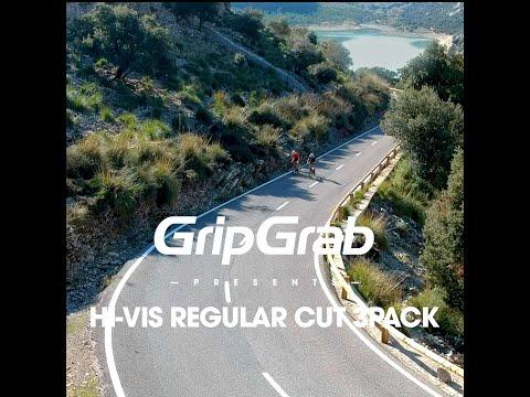 GripGrab 3pak regular cut sommerstrømper Hi-vis video