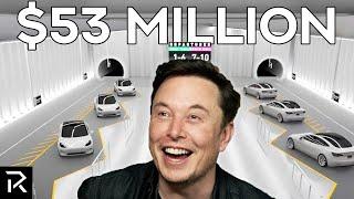 Elon Musk's A.I Taxi Tunnel In Las Vegas
