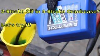 2-Stroke Oil in 4-Stroke Crankcase? Let's try it!