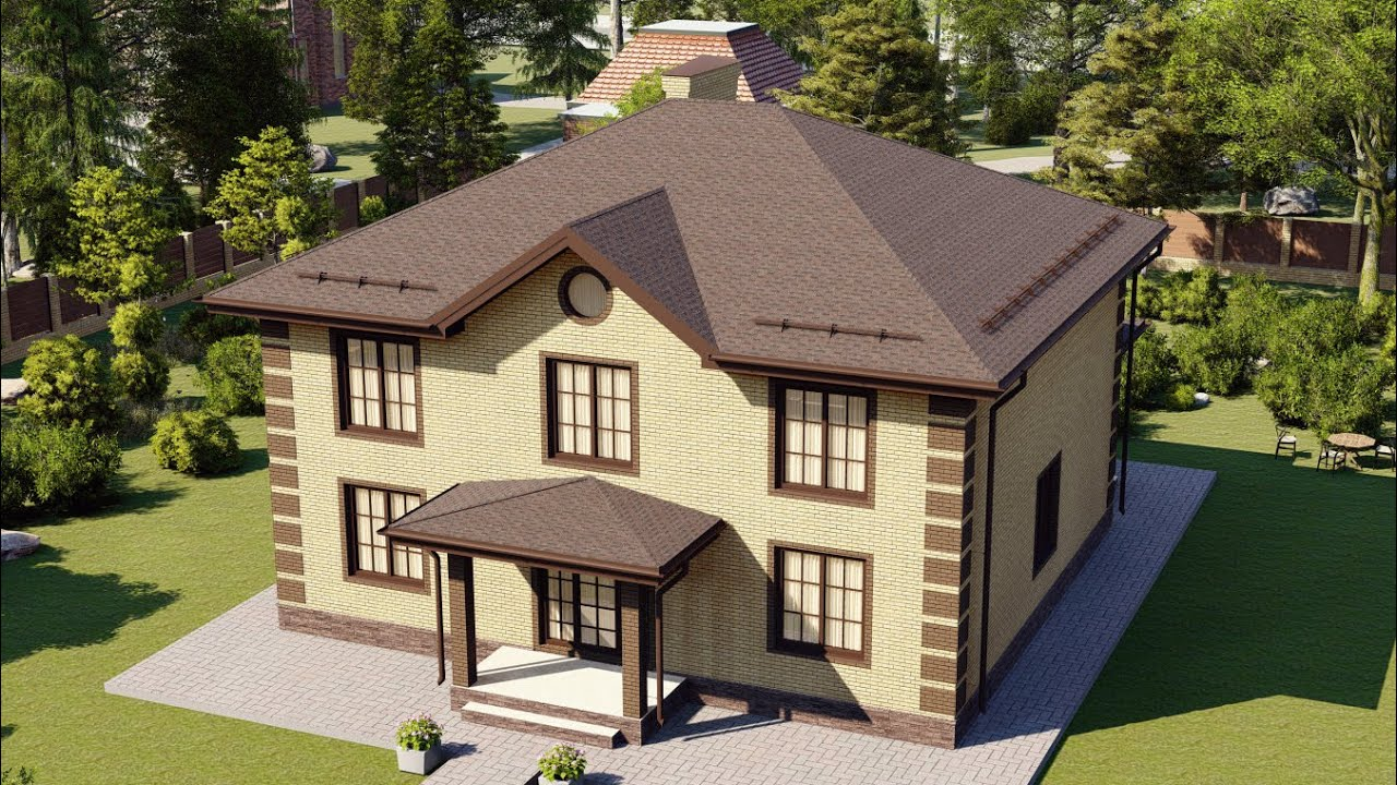 Отличный проект загородного двухэтажного дома 11 на 13 222 м2