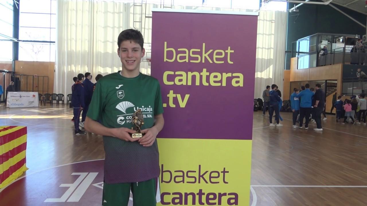 MARIO SAINT-SUPERY (´06) Unicaja 1,78 m. MVP Copa Infantil Sant Vicenç Montall (BasketCantera.TV)