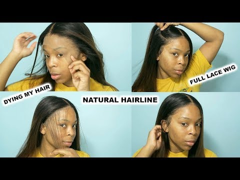 How I make my hairline look natural using a full lace wig | Dolago hair