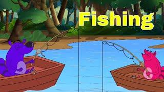 Fishing Ep - 75 - Pyaar Mohabbat Happy Lucky - Hindi Animated Cartoon Show - Zee Kids