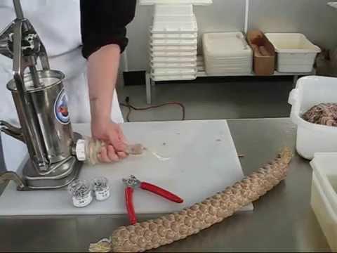 Stuffing Sausage & Salami with 5 Lb. Stuffer