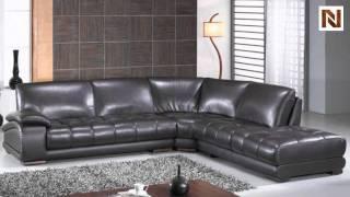 Richmond Modern Espresso Leather Sectional Sofa VGBNBO3922