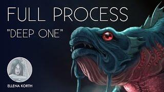 Creature Design | Deep One | Lovecraft | Full process