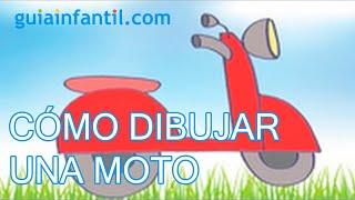 Dibujos de transportes para niños. Cómo dibujar una moto