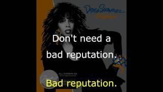 "Donna Summer - Bad Reputation LYRICS SHM ""All Systems Go"" 1987"