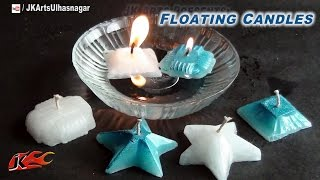 How To Make Floating Candles At Home | JK Arts 686