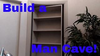 How To Build A Secret Man Cave Door. Murphy Door. DIY Finish Carpentry.