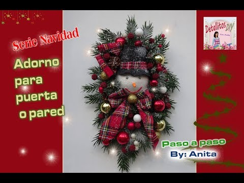 Adorno navideño para puerta o pared