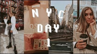 first day in NYC + Glossier, Brandy Melville, & Lululemon haul
