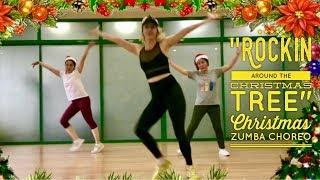 Christmas Zumba Rockin Around The Christmas Tree Miley Cyrus Choreo by Aksana