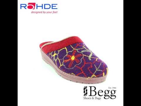 Rohde 2289-59 Purple multi slipper mules
