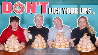 LAST ONE TO LICK THEIR LIPS WINS £1000 (sugar donuts!) FULL BARKER FAMILY!