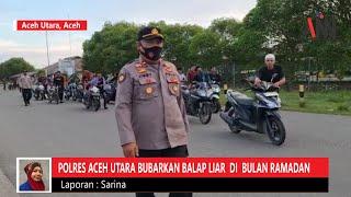 Bubarkan Balap Liar, Polisi Jaring Puluhan Unit Sepeda Motor di Aceh Utara