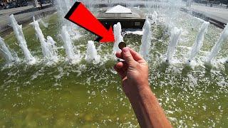 Сколько можно заработать собирая монеты в фонтане?