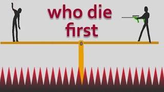 who die first - stupid stickman