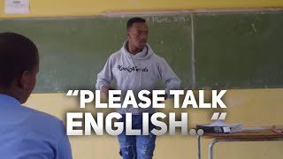 When The Teacher teaches English in another Language