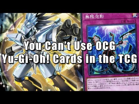 You Can't Use OCG Yu-Gi-Oh! Cards in the TCG