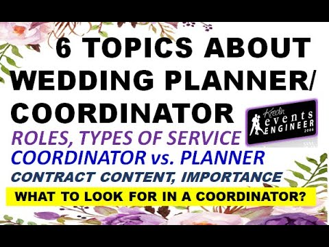 6 Topics you need to know before hiring a planner?