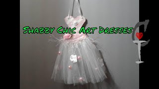DIY Shabby Chic And Traditional  Art Dress Ornament!!!