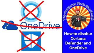 How to disable Cortana, Defender and OneDrive (Win10) - Quick TIPS