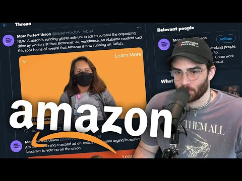 Amazon Running Anti-Union ads ON TWITCH?!